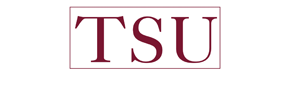 Texas Southern University's logo inverted